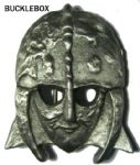 Sutton Hoo Anglo-Saxon Helmet Belt Buckle + display stand. Code BB4